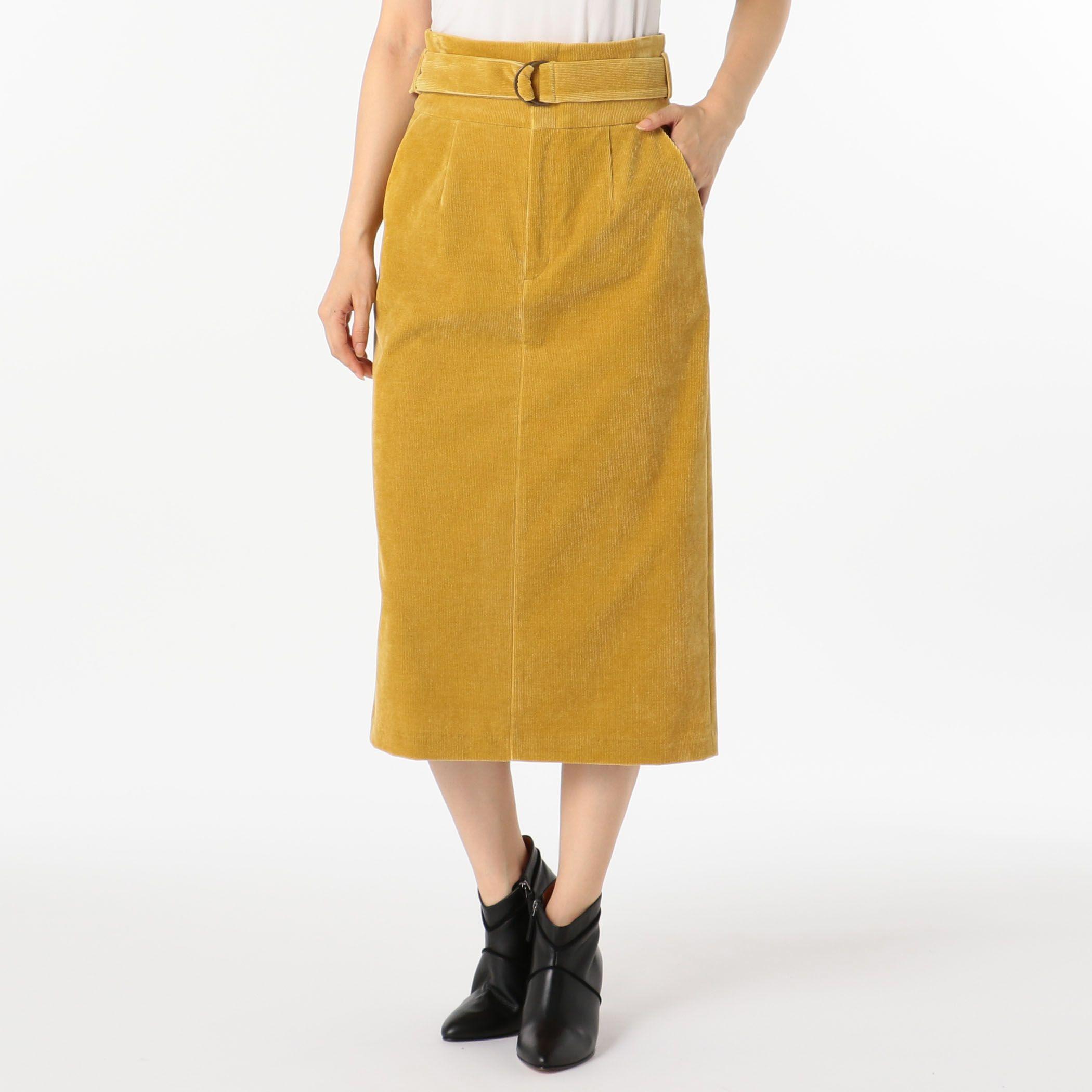 NOLLEY'Sノーリーズ/シャンブレーコールタイトスカート