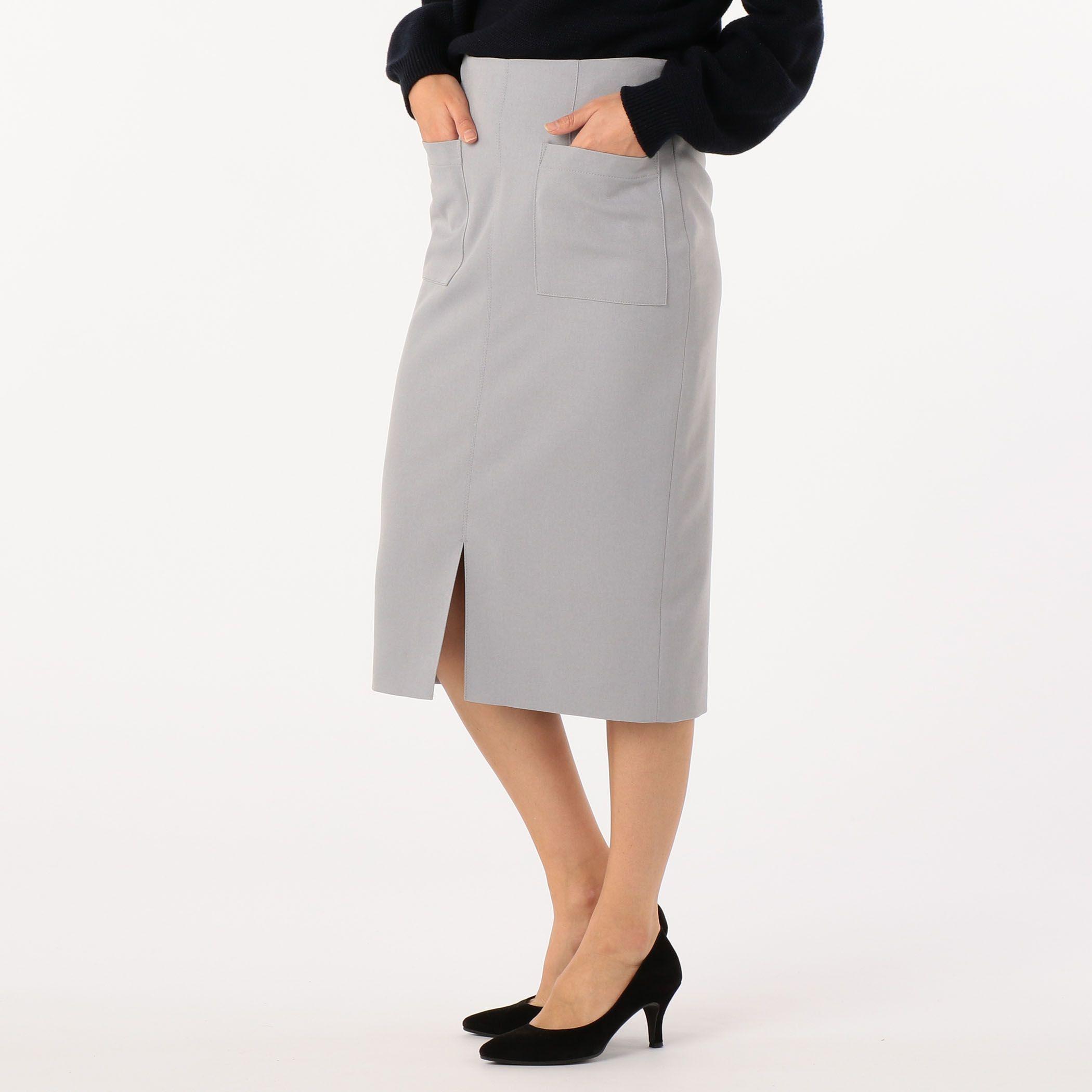 NOLLEY'Sノーリーズ/ウール調合繊ポケット付タイトスカート