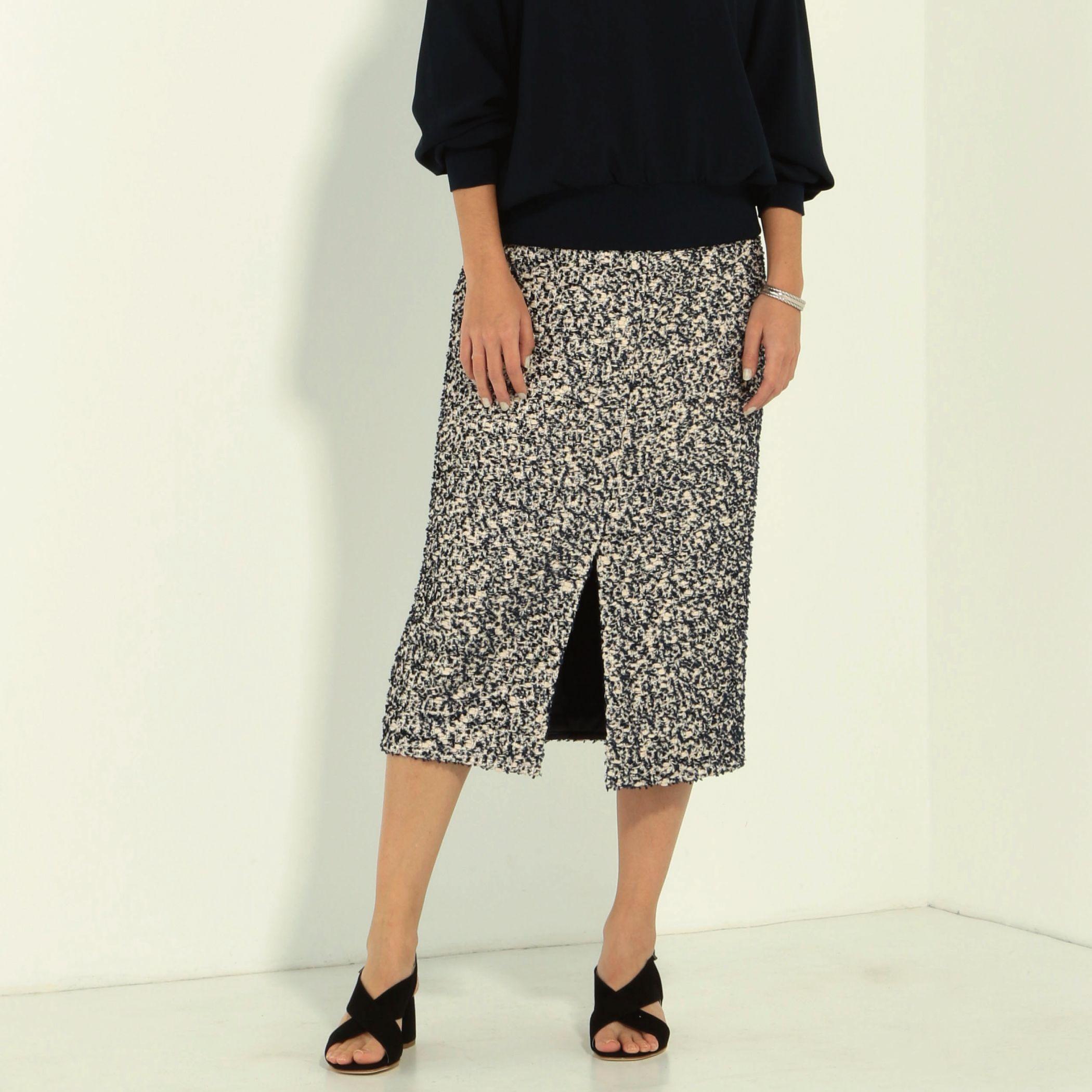 RavissantLaviereラヴィソン ラヴィエール/ファンシーツイードタイトスカート