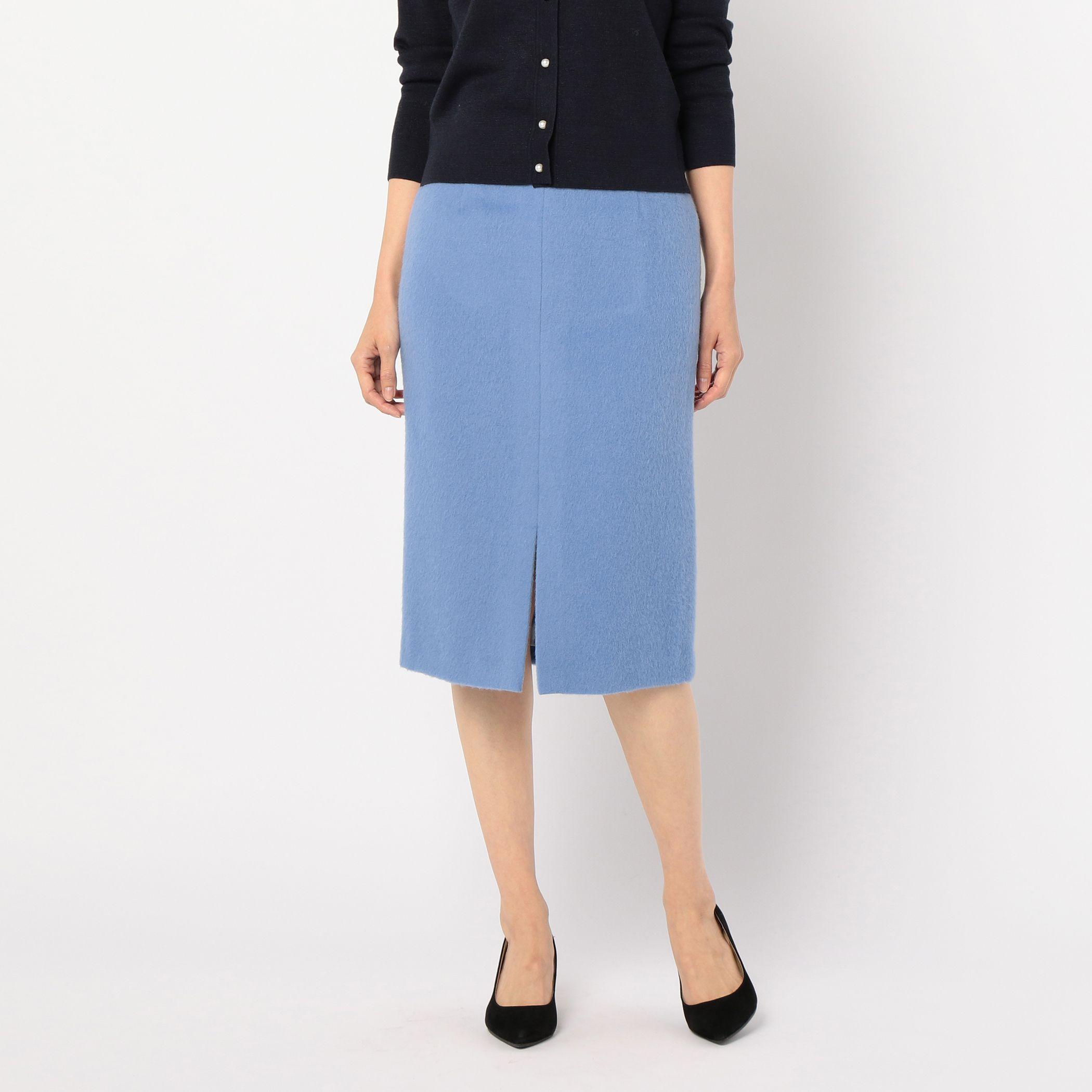 NOLLEY'Sノーリーズ/アルパカシャギータイトスカート