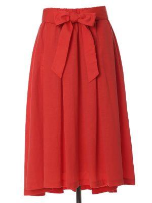 リボンベルト付きAラインフレアスカート