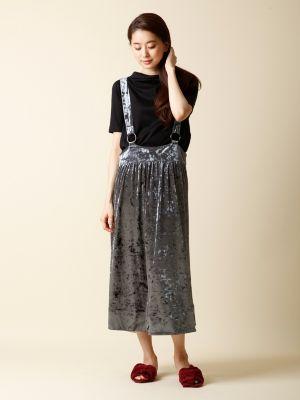 ベロアサロペットスカート【FUDGE10月号掲載】