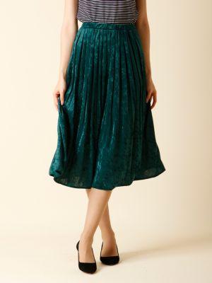 クラッシュベロアプリーツスカート
