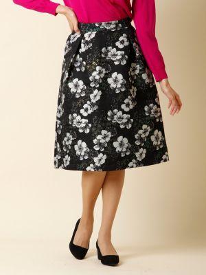 【秋の新作】フラワーシャイニースカート