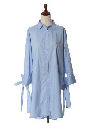 ストレッチワイドシャツワンピース