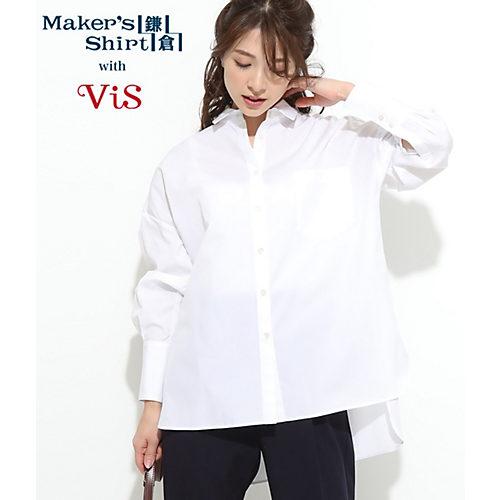 ViS/【鎌倉シャツ×ViS】ルーズシルエットシャツ/¥4,980+税