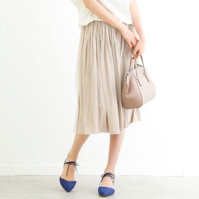 Yangany チュールサテンリバースカート