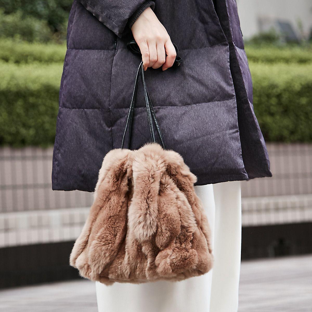 レッキスファー巾着バッグ【LEE 2018年02月号 P.46掲載】