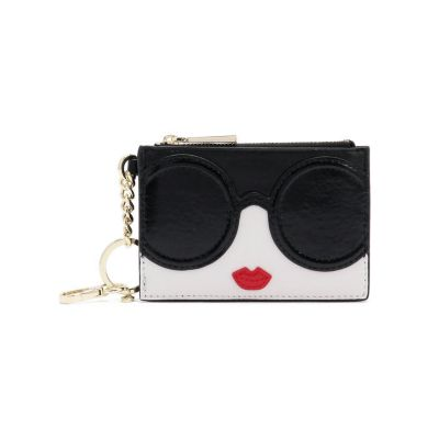 STACEYFACE ZIP COIN POUCH KEYCHARM