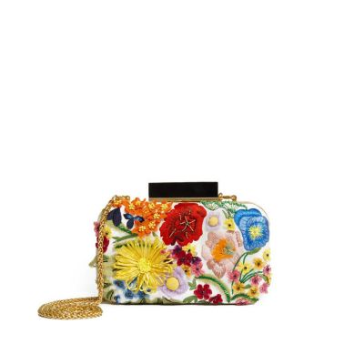 SHIRLEY EMBROIDERY 3D FLORAL CLUTCH
