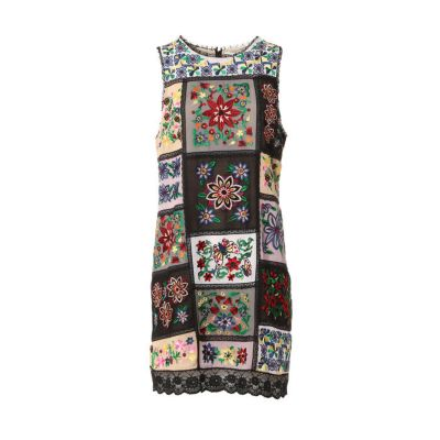 MARCELINA EMBROIDERY TUNIC DRESS