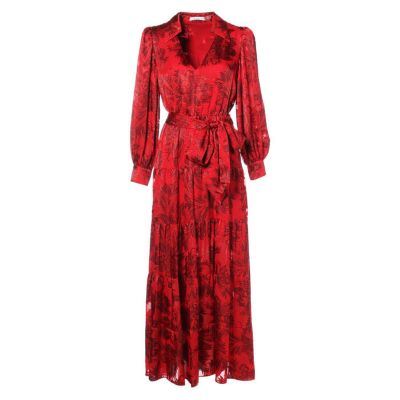 SITARA COLLARED TIERED DRESS