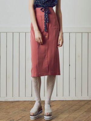 レトロボタンタイトスカート