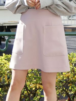 ポケット台形ミニスカート