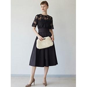 63c0babdad1f7 NEW LAGUNAMOON LADYオーバーレースギャザードレス ¥22