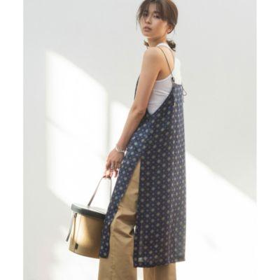 小紋シルクキャミドレス