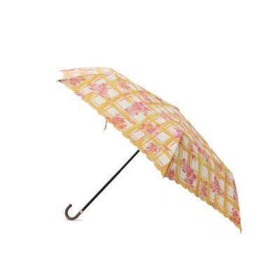フローラルチェック折り畳み傘(晴雨兼用)
