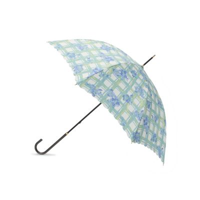フローラルチェック晴雨兼用長傘