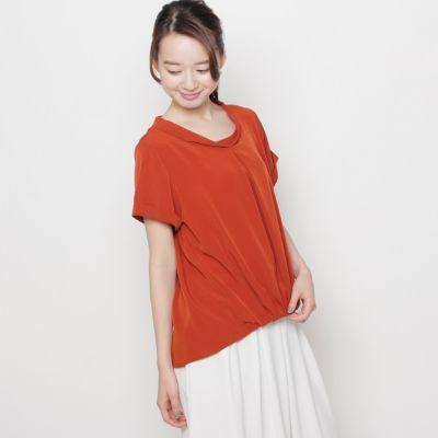 タックギャザープルオーバーシャツ