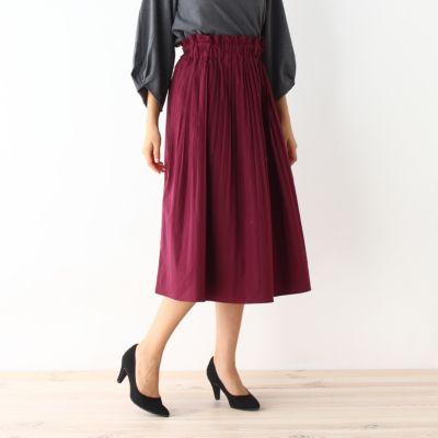 コットン消しプリーツスカート