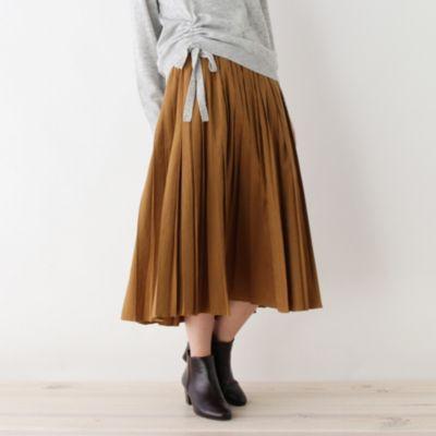 ピーチ起毛 プリーツスカート