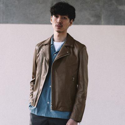 ラムレザーダブルライダースジャケット