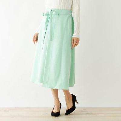 【洗える】Aラインミディ丈スカート