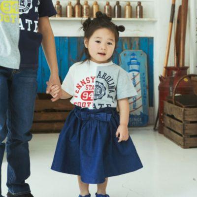 【150cmまで】切替カレッジTシャツ