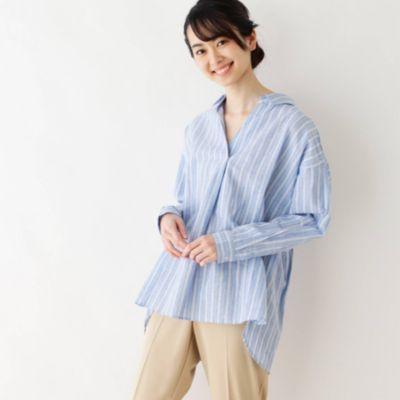 フレンチリネン スキッパーシャツ