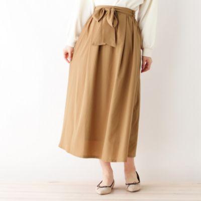 サテン カラースカート