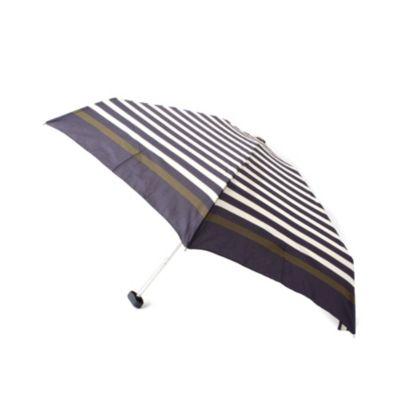ポーチ付き晴雨兼用ボーダー柄折り畳み傘