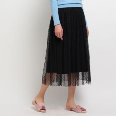 ドットチュールギャザースカート