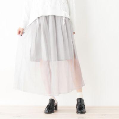 ラメプリーツマキシスカート