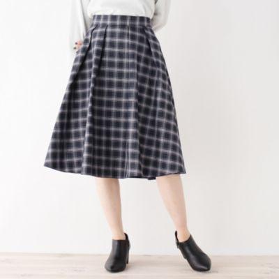 【洗える】チェックリバーシブルスカート