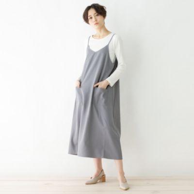 【セットアイテム】インナーニット+キャミソールワンピース