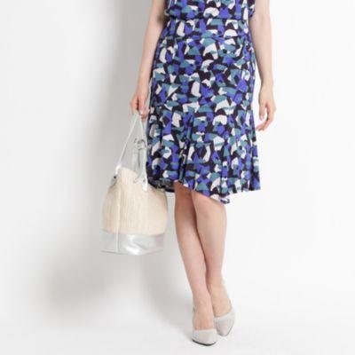 【WEB限定】【洗える】ジグソーモザイク スカート