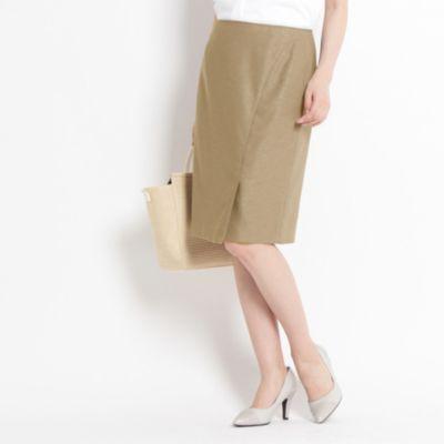 【洗える】ツィストツィードスカート