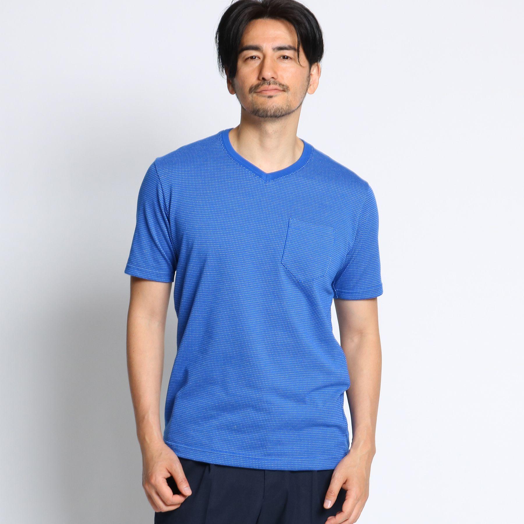サンホーキンドットVネックTシャツ [ メンズ Tシャツ カットソー ]