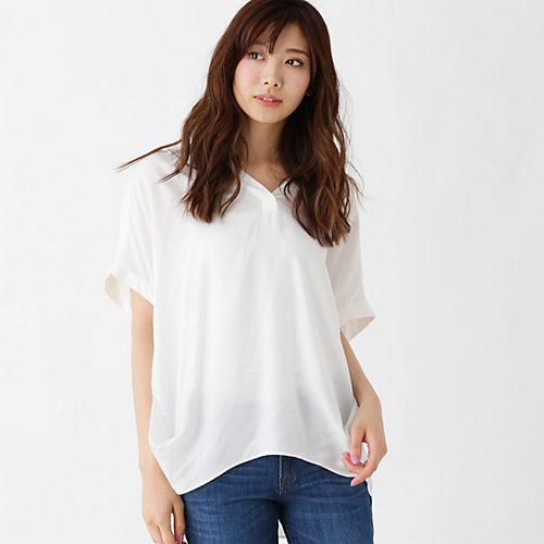 SHOO・LA・RUE/スラブドルマンスキッパーシャツ/¥1,990+税
