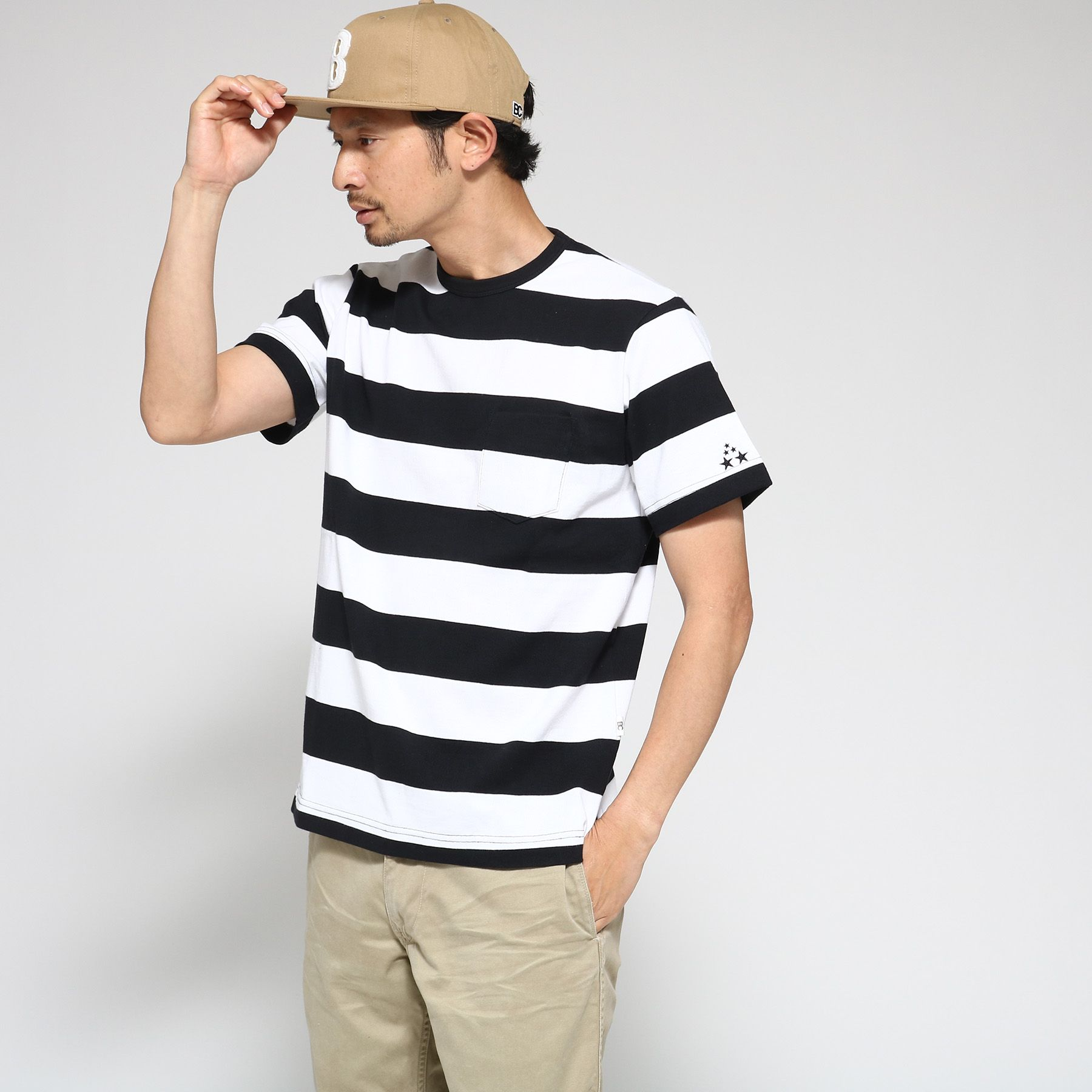 <集英社> Tシャツ メンズ YS ボーダー 半袖Tシャツ