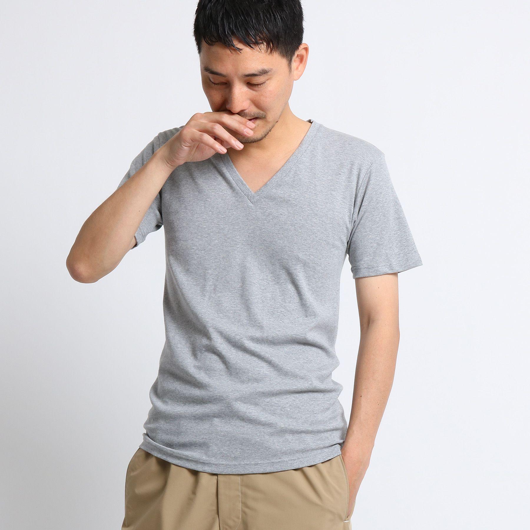 【 日本製 】 インナーVネックTシャツ [ メンズ トップス Tシャツ インナー Vネック ]