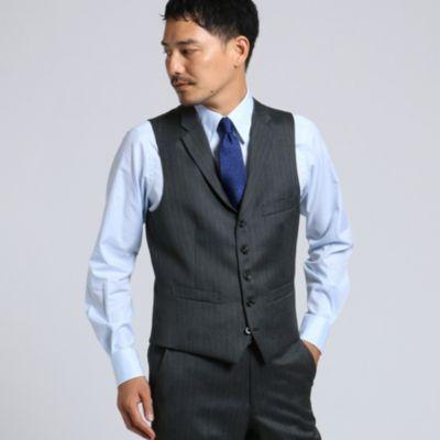 <集英社>【PNJ】紡縞 ベスト [ メンズ スーツ ]画像