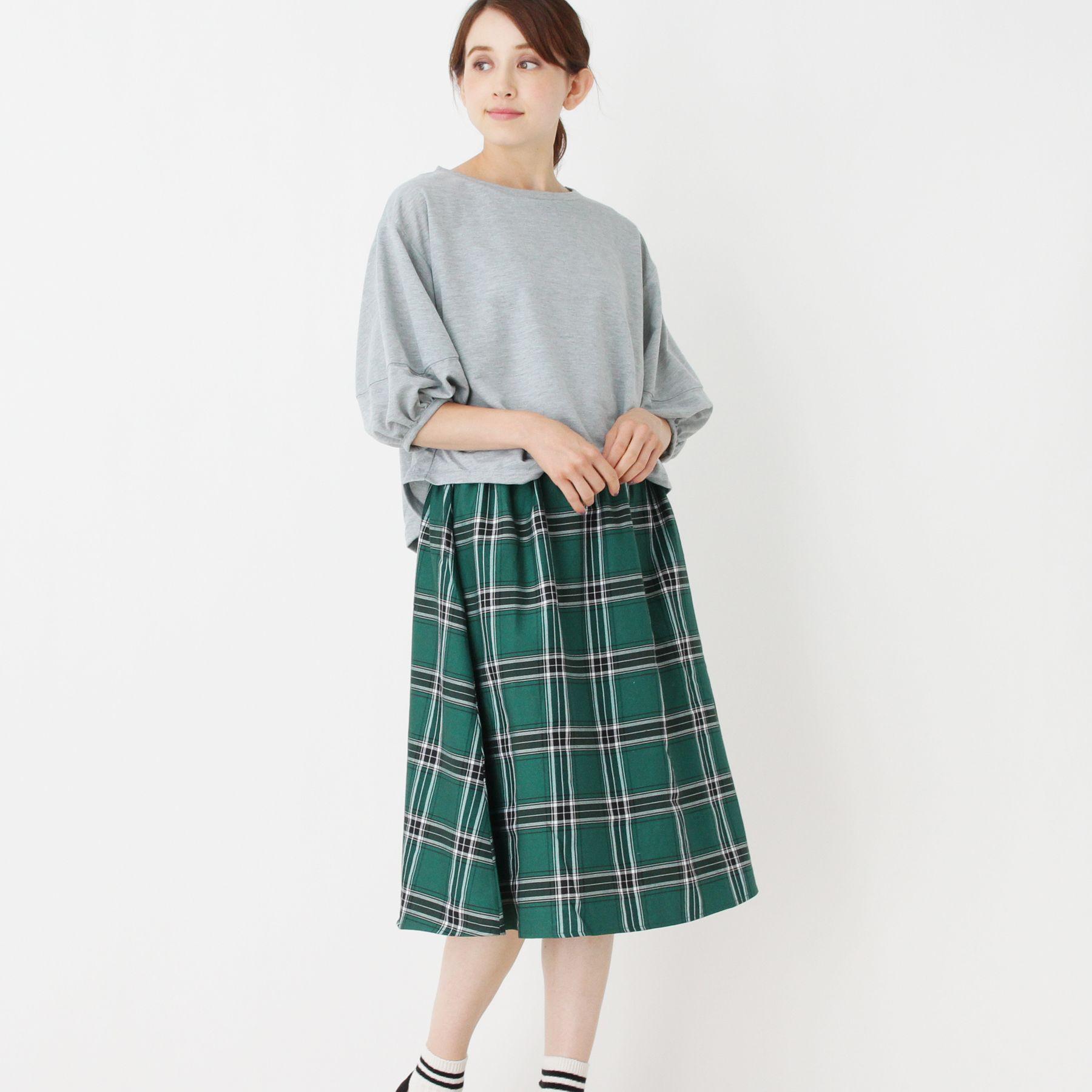 <集英社> ミニ裏毛ドッキングワンピース画像