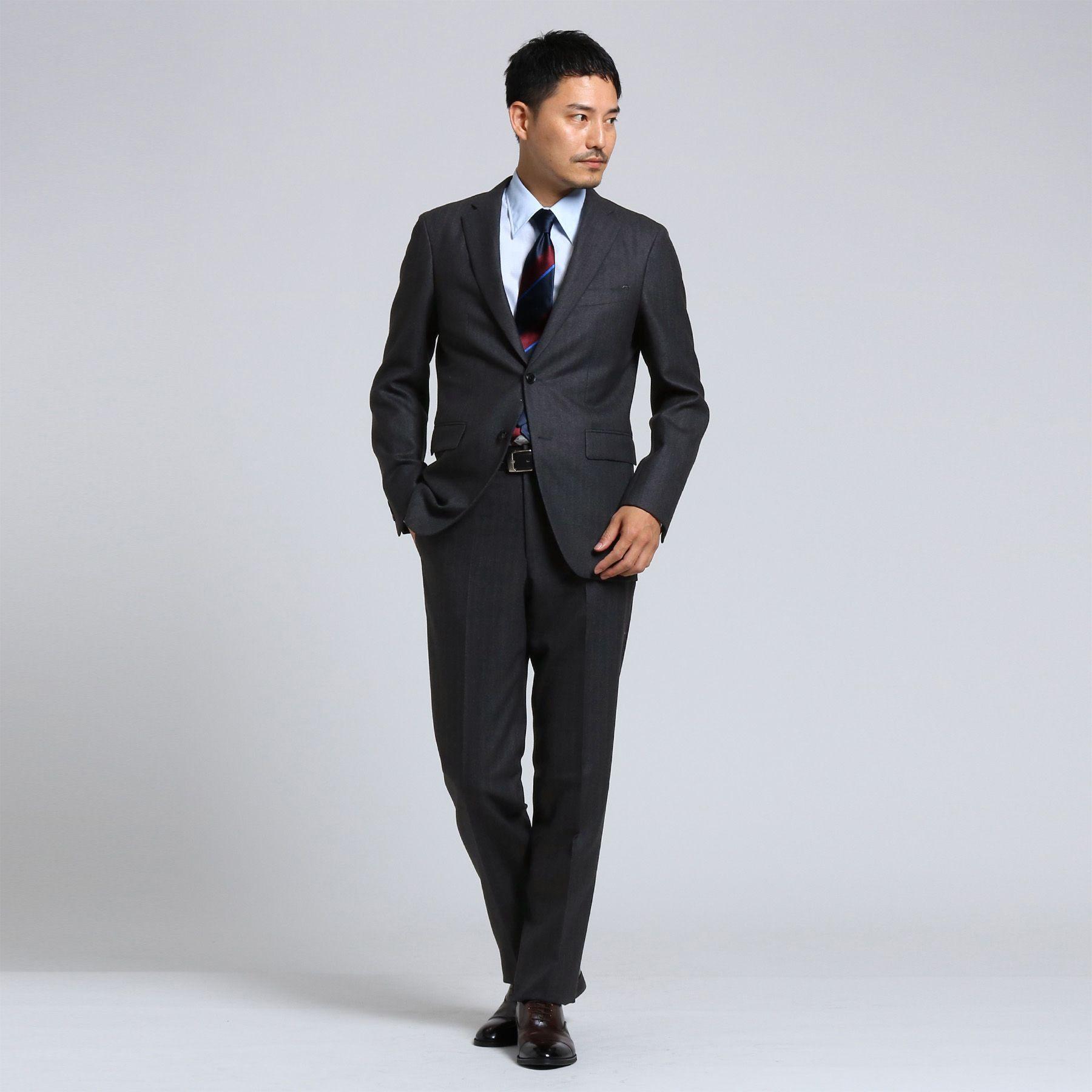 <集英社>【PNJ】紡ぎカラーストライプ2Bスーツ[ メンズ スーツ ストライプ ]画像