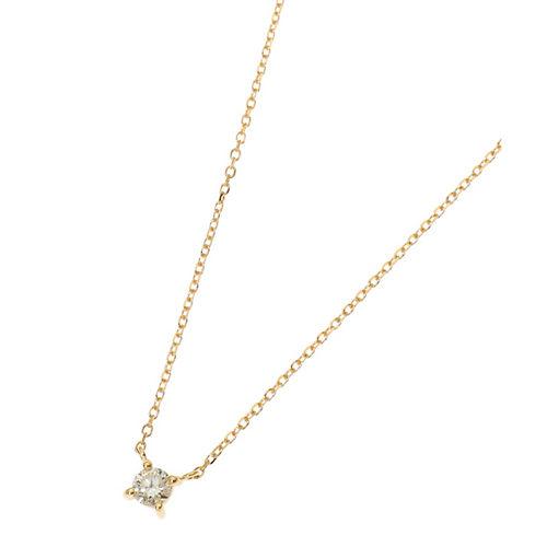 COCOSHNIK/K18ダイヤモンド爪留め ネックレス/¥56,000+税