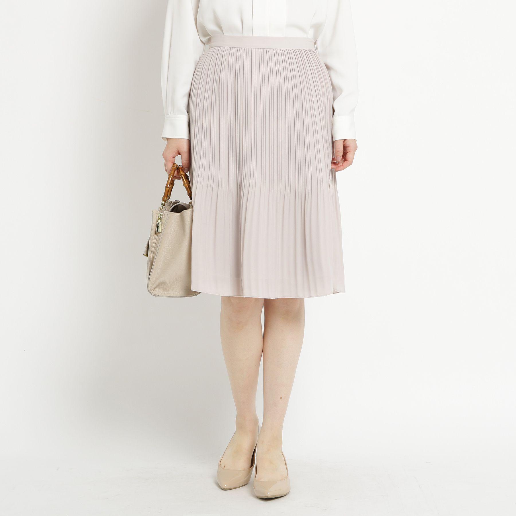【洗える】ジョーゼットプリーツスカート