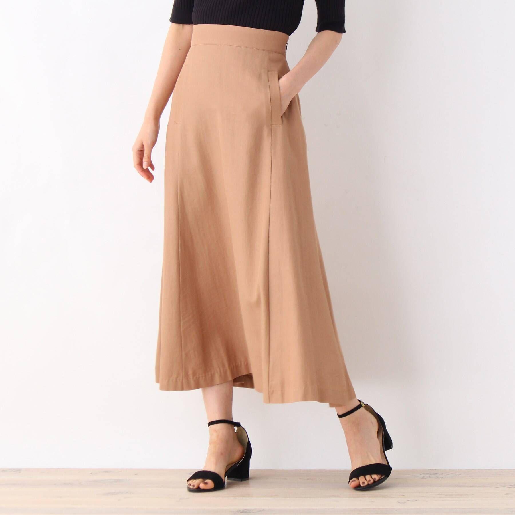 集英社 HAPPY PLUS STOREで買える「OPAQUE.CLIP(オペーク ドット クリップ/リンクルエアーツイルスカート」の画像です。価格は2,195円になります。
