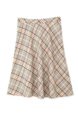 ◆大きいサイズ◆マルチカラーチェックフレアスカート
