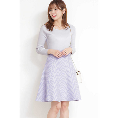 PROPORTION BODY DRESSING/ヘリンボーン柄パステルワンピース/¥12,900+税