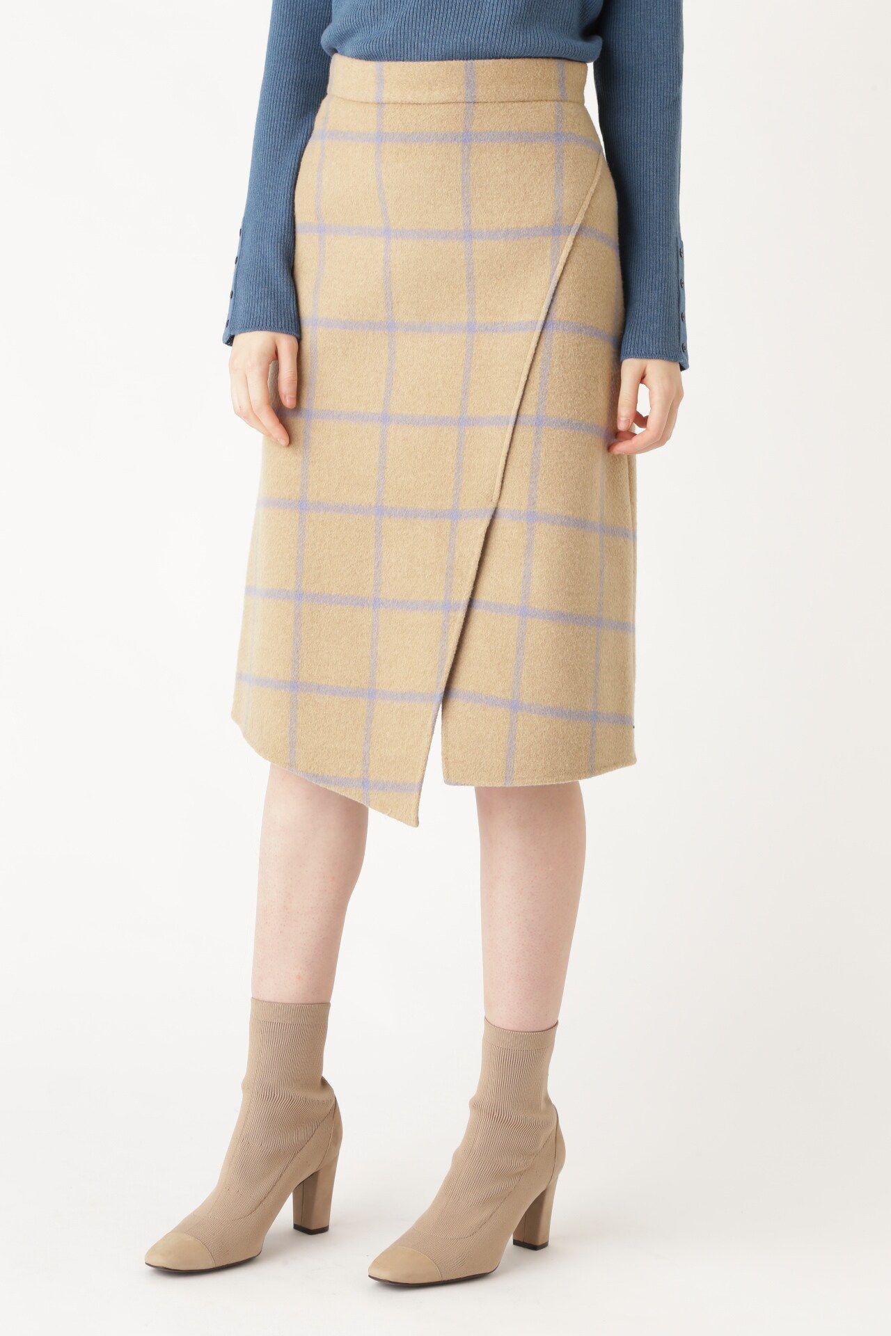 <集英社> JILLSTUART(ジルスチュアート)/サリーリバーチェックアシンメトリースカート